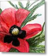 Abstract Poppy Metal Print
