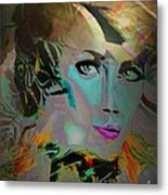 Abstract Portrait Of A Blue Lady Metal Print by Doris Wood