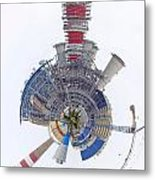 Abstract Construction Power Plant Metal Print