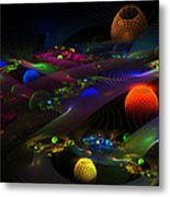 Abstract Psychedelic Fractal Art Metal Print