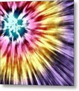 Abstract Purple Tie Dye Metal Print