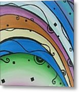 Abstract Rainbow Metal Print by Juan Molina