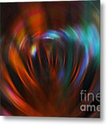 Abstract Red And Green Blur Metal Print