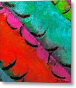 Abstract Red Blue Metal Print