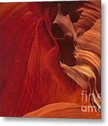 Abstract Red Sandstone Formations Lower Antelope Slot Metal Print