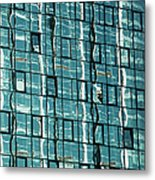Abstract Reflections In Windows Metal Print