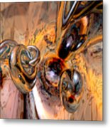 Abstract Ring Connections Metal Print