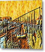 Abstract Roller Coaster Metal Print