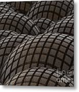 Abstract Rusty Metal Spheres Background Metal Print by Tomislav Zivkovic