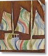 Abstract Sailboat Metal Print
