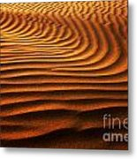 Abstract Sand Pattern  Metal Print