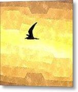 Abstract Seagull Flight Metal Print