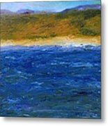 Abstract Shoreline Metal Print by Michelle Calkins