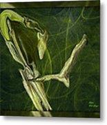 Abstract Snake And Bird Metal Print