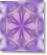 Abstract Soft Tones Of Purple Metal Print