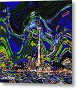 Abstract Some Where In Galaxy Light Years Away Launching A Satellite To Connect With The Earth Metal Print