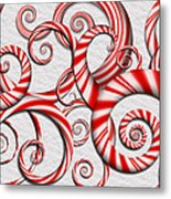 Abstract - Spirals - Peppermint Dreams Metal Print