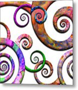 Abstract - Spirals - Planet X Metal Print