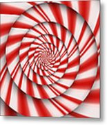 Abstract - Spirals - The Power Of Mint Metal Print