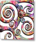 Abstract - Spirals - Wonderland Metal Print