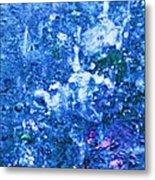 Abstract Splashing Water Metal Print