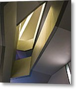 Abstract Stairwell Metal Print