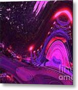 Abstract Street Scene Metal Print
