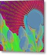 Abstract Sun Metal Print