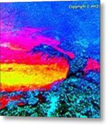 Abstract Sunset As A Painting Metal Print