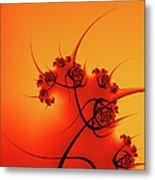 Abstract Sunset Fractal Metal Print