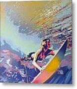 Abstract Surf Metal Print