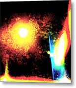 Abstract System B Metal Print