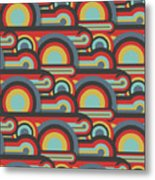 Abstract Textile Seamless Pattern Of Metal Print