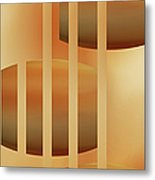 Abstract  The Cords Metal Print