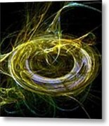 Abstract - The Ring Metal Print