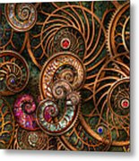 Abstract - The Wonders Of Sea Metal Print by Mike Savad