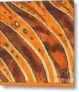 Abstract Tiger Stripes Metal Print