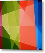 Abstract Transparency Metal Print