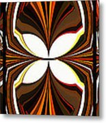 Abstract Triptych - Brown - Orange Metal Print
