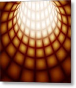 Abstract Tunnel Line Technology Background Metal Print