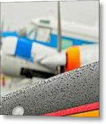 Abstract View Of Airshow During A Rain Storm Metal Print