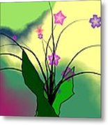 Abstract Violets Metal Print