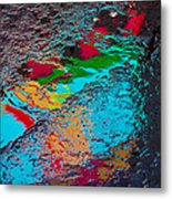 Abstract Wet Pavement Metal Print