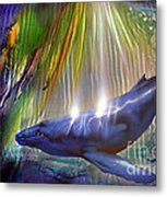Abstract Whale Metal Print