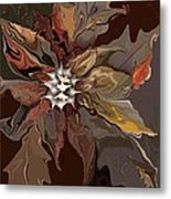 Abstract Whispering Leaves Metal Print