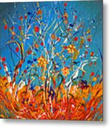 Abstract Wildflowers Metal Print