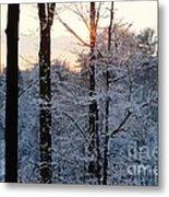 Abstract Winter Sunset Metal Print