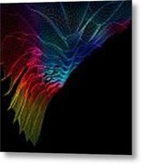 Abstract Wire Background  Metal Print