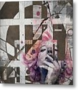 Abstract Woman 001 Metal Print