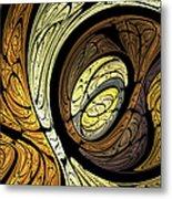 Abstract Wood Grain Metal Print